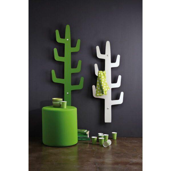 appendiabiti da muro design moderno a forma di cactus