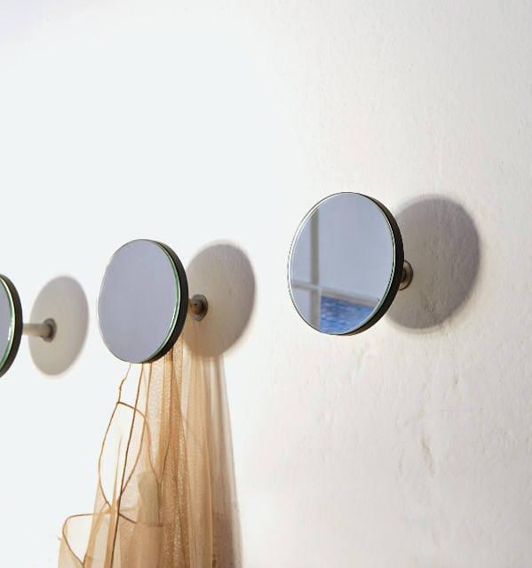 gancio appendiabiti a forma di disco a specchio
