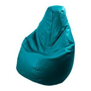 Poltrona a sacco Lolita in ecopelle blu oceano