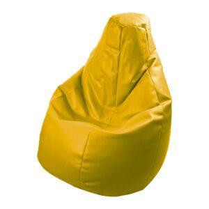 Poltrona a sacco Lolita in ecopelle giallo