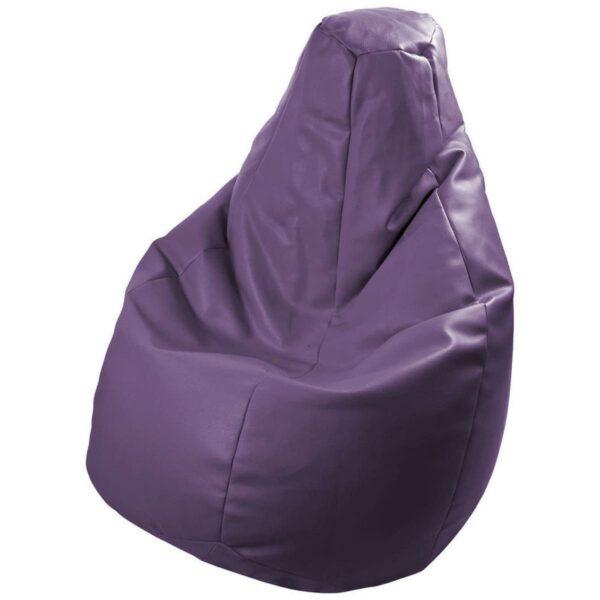 Poltrona a sacco Lolita in ecopelle viola