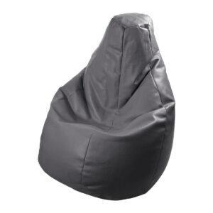 Poltrona a sacco Lolita in ecopelle grigio