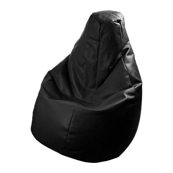 Poltrona a sacco Lolita in ecopelle nero