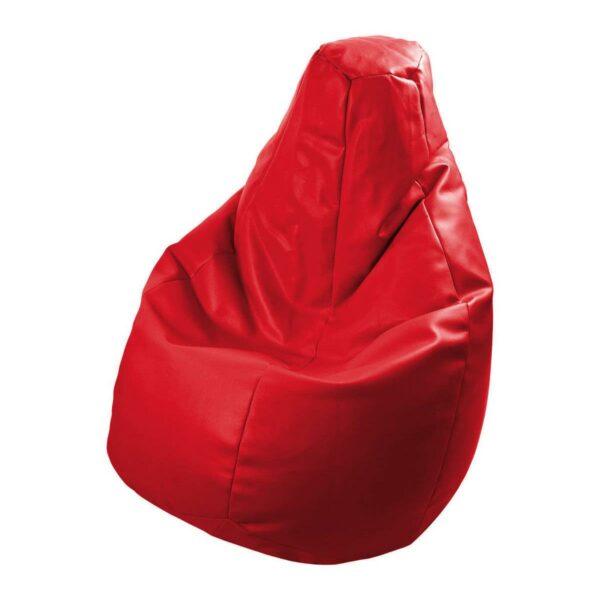 Poltrona a sacco Lolita in ecopelle rossso