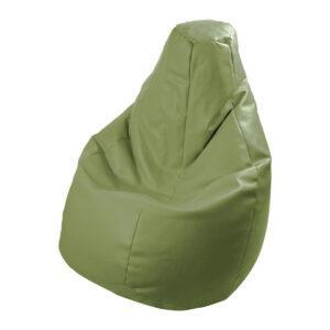 Poltrona a sacco Lolita in ecopelle verde