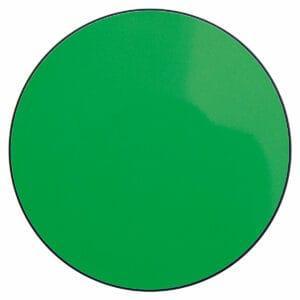 Appendiabiti a forma circolare della collezione Art-Up con pomello in acciaio inox e appendiabiti HPL di colore verde fluorescente