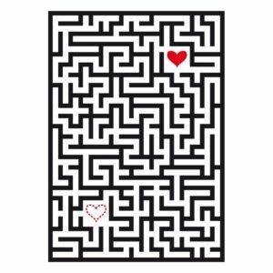 Coperta in cotone con grafica di un labirinto