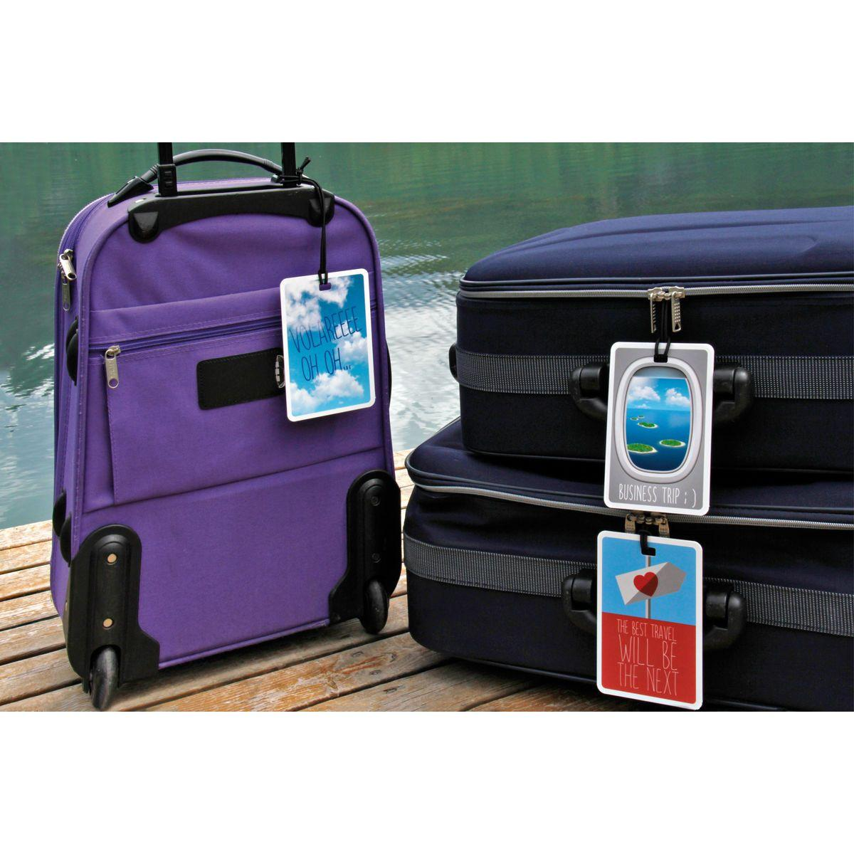 Set valige su pontile con etichette #MYTAG