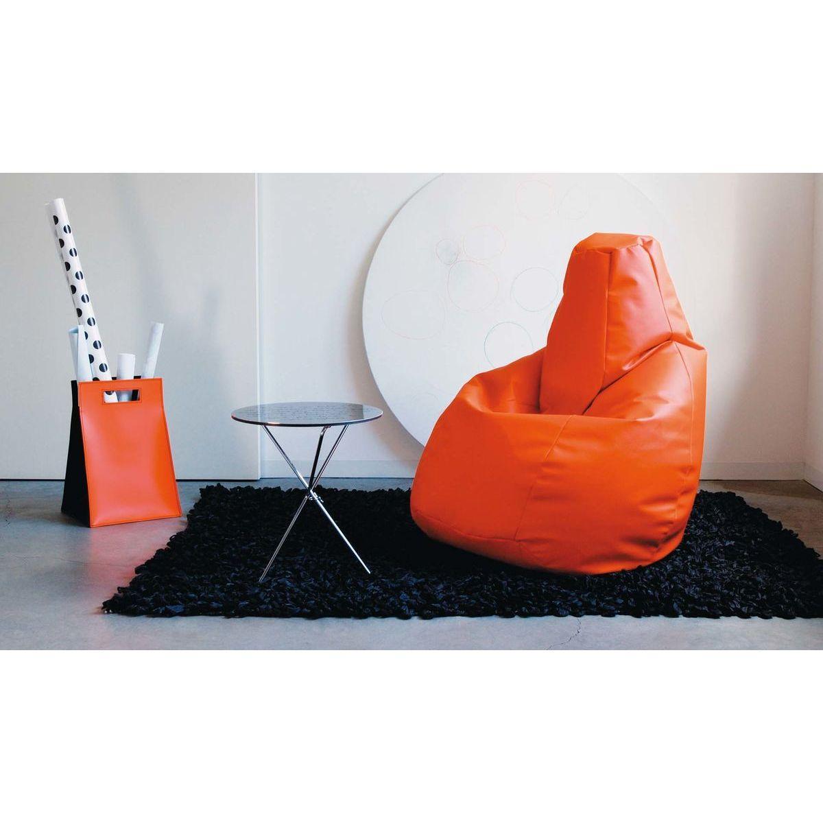 Poltrona a sacco Lolita in ecopelle arancione