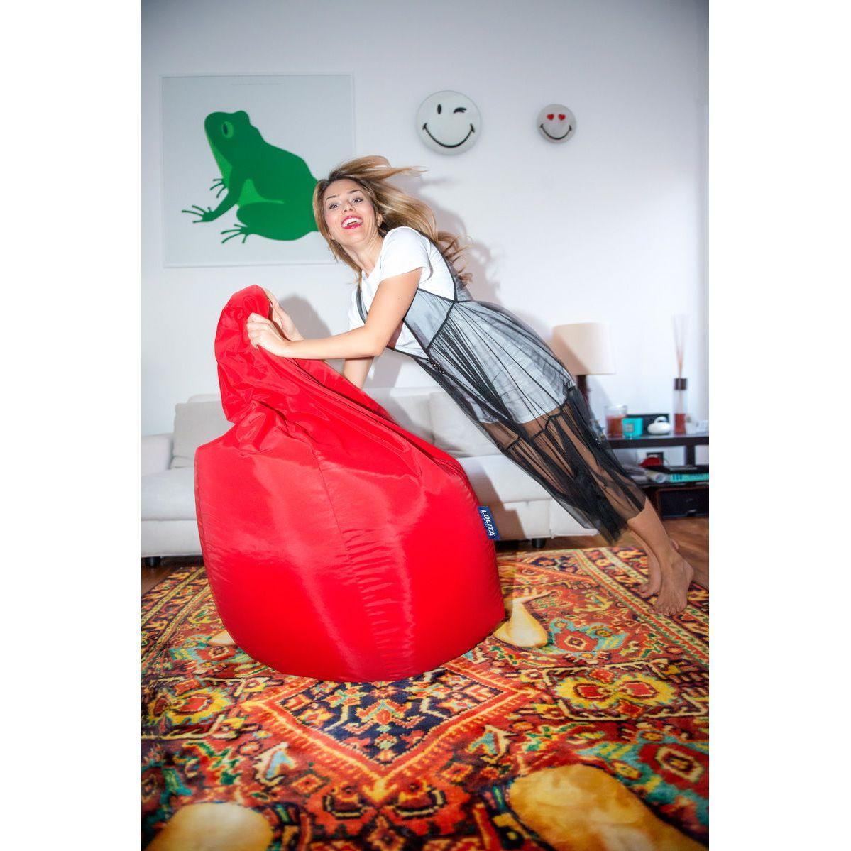 Poltrona a sacco Lolita nylon finitura mano morbida rosso