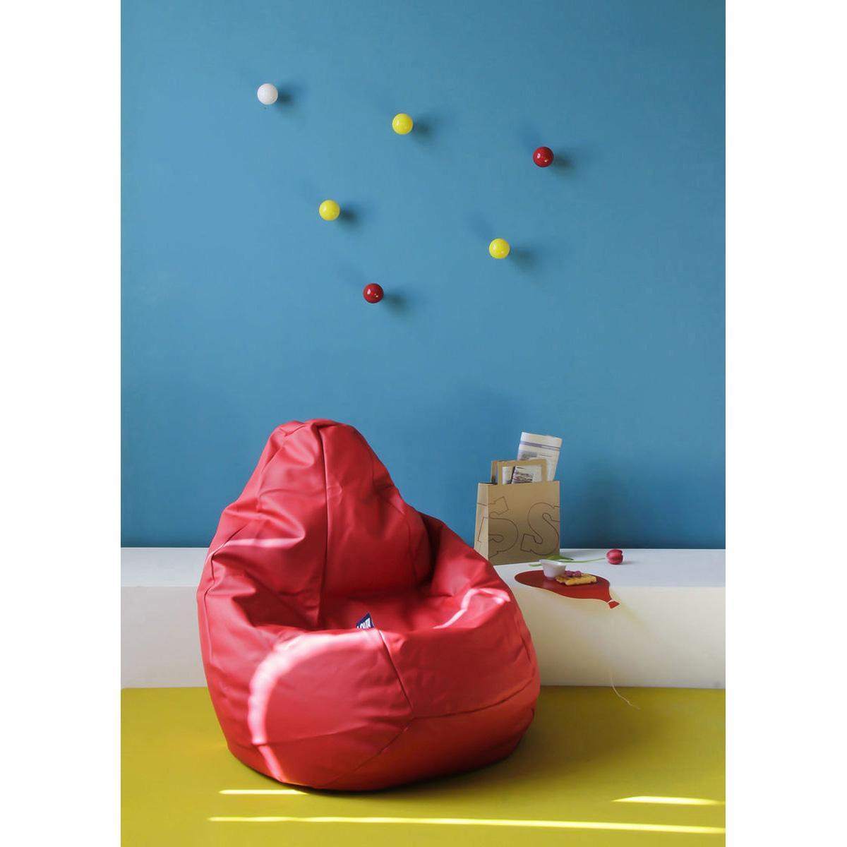 Poltrona a sacco Lolita in ecopelle rossa