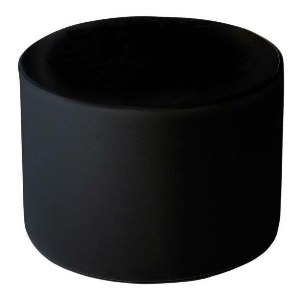 Pouf cilindrico altezza 33 cm nero