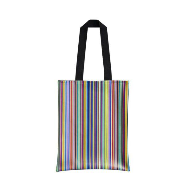 Borsa da viaggio con fantasia a rithe verticali colorate Total Striper