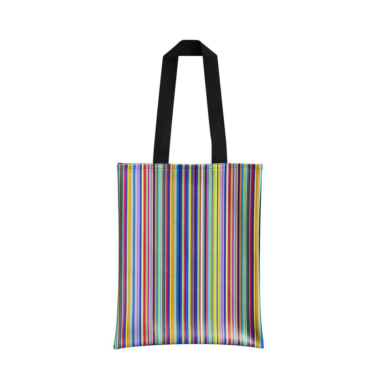 Borsa da viaggio con fantasia a rithe verticali colorate Total Stripes