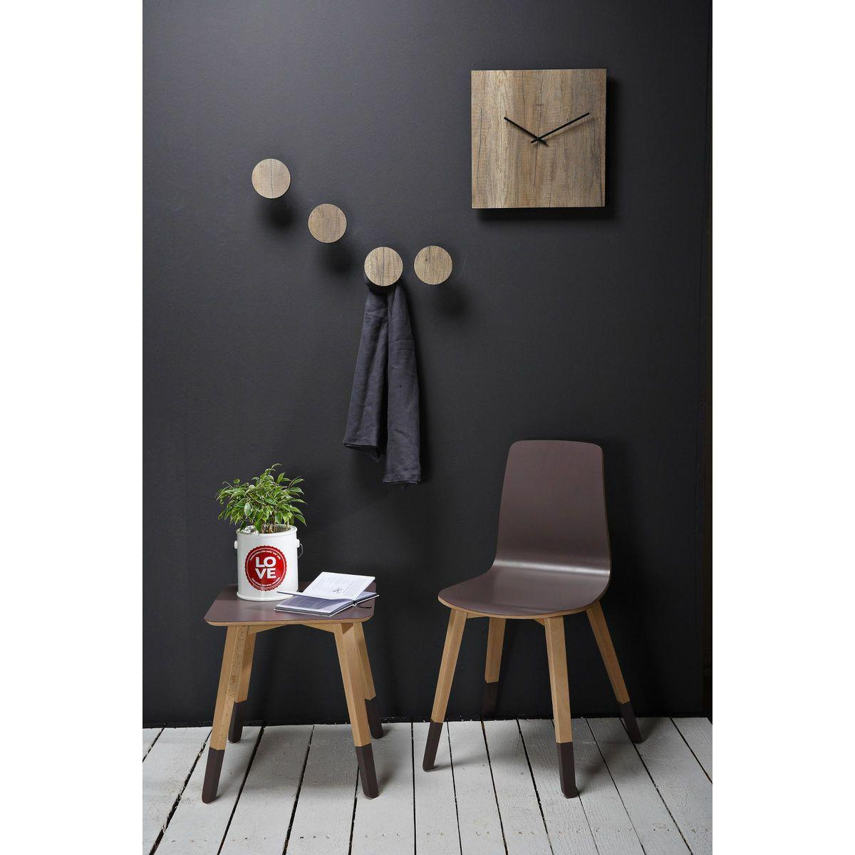 Orologio da parete quadrato simil legno