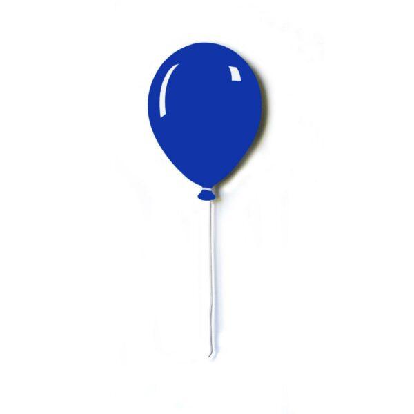 Pannello da parete decorativo a forma di palloncino piatto con filo bianco di colore blu