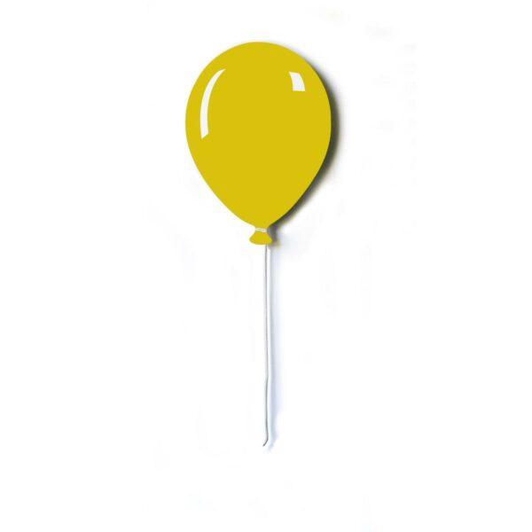 Pannello da parete decorativo a forma di palloncino piatto con filo bianco di colore giallo