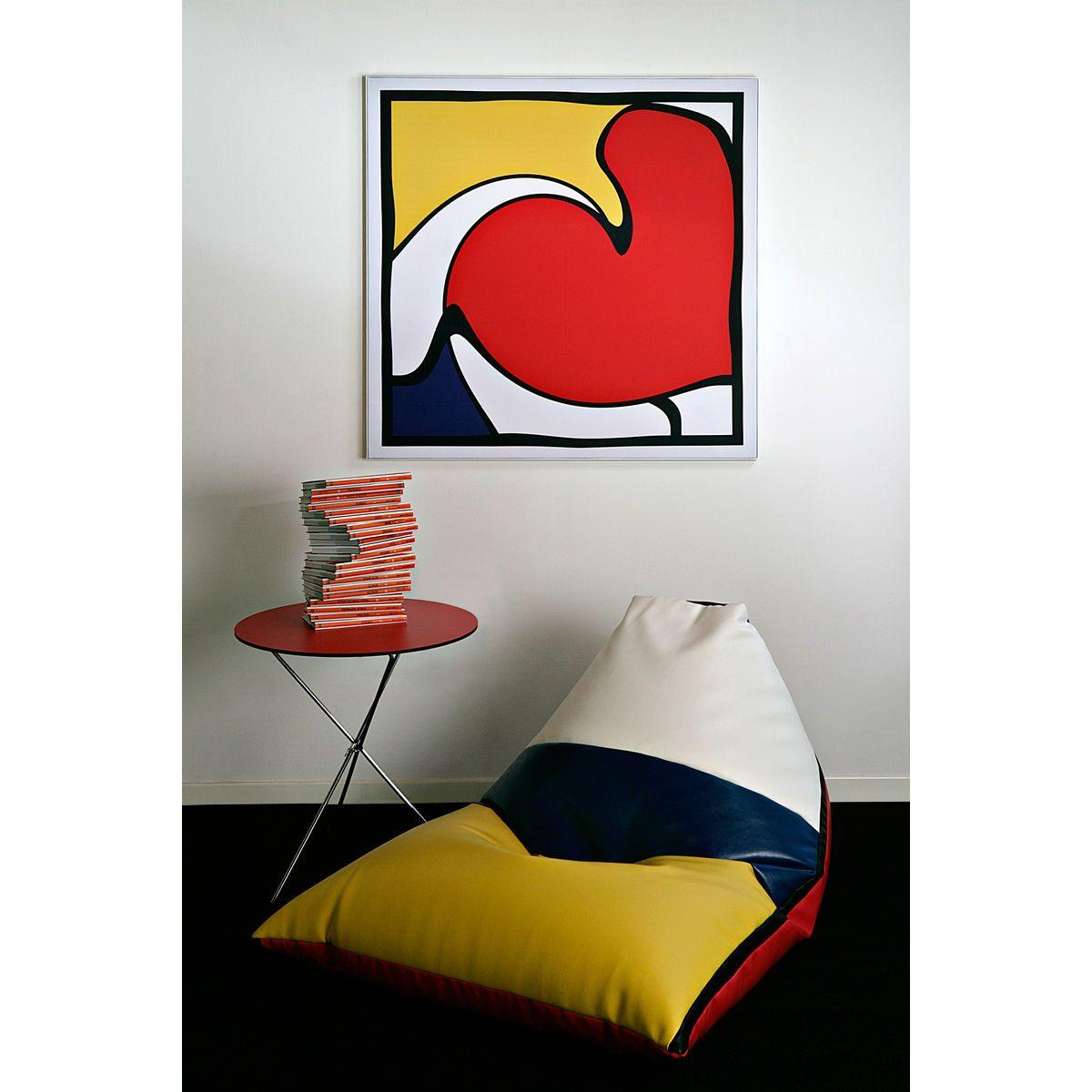 Poltrona a sacco Peggy in ecopelle colorata stile Mondrian