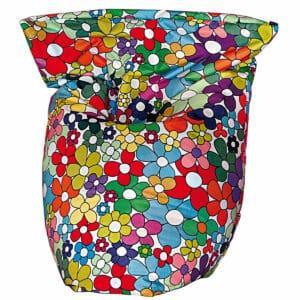 Poltrona a sacco Peggy in nylon finitura mano morbida con pattern flowers