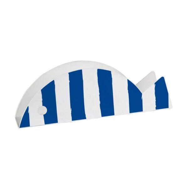 Portabuste a forma di pesce a strice bianche e blu