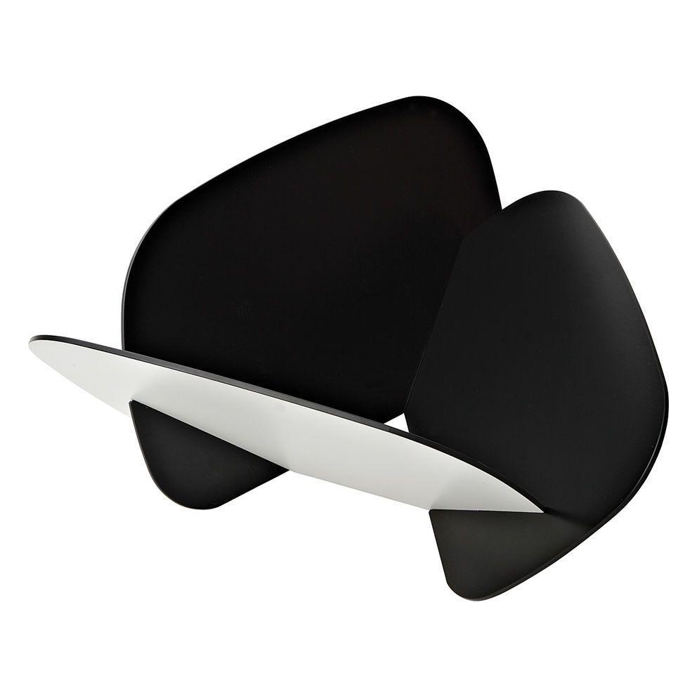 Contenitore multiuso formato da tre tasselli incassati tra loro colore nero e bianco