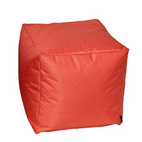 Pouf morbido in nylon alta qualità arancione imbottito