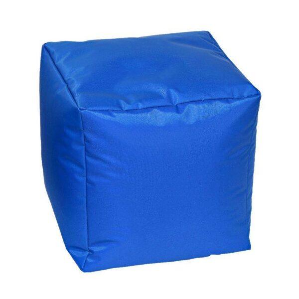 Pouf morbido in nylon alta qualità blu imbottito