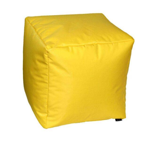Pouf morbido in nylon alta qualità giallo imbottito
