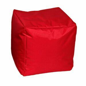 Pouf morbido in nylon alta qualità rosso imbottito