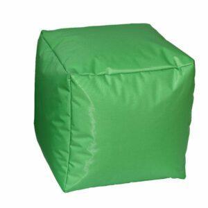 Pouf morbido in nylon alta qualità verde imbottito