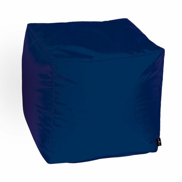 pouf morbido multiuso realizzato in nylon tecninco blue navy