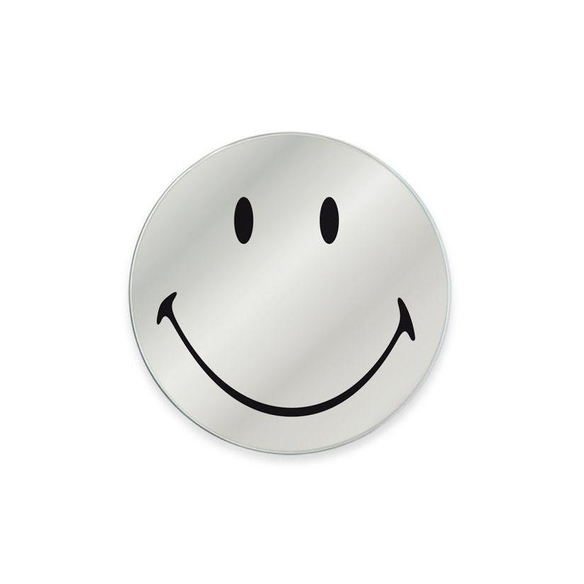 Specchio in vetro circolare con immagine Smiley originale emoticon smile