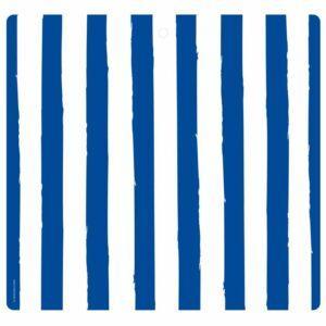Tovaglietta in PET bianca con righe blu