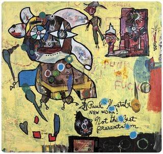 tovaglietta americana quadrata che ritrae un opera artistica di Paul Kostabi