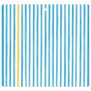 Tovaglietta in PET bianca con righe azzure e giallo