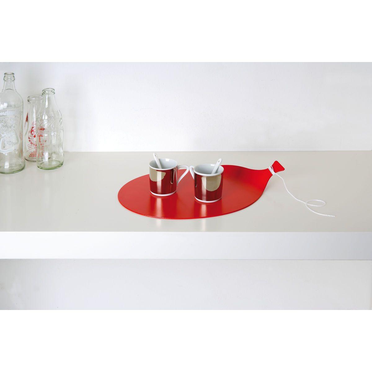 Mini vassoio in alluminio a forma di palloncino con cordoncino colore rosso