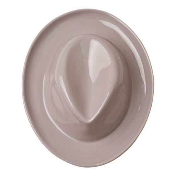 Umidificatore per termosifone in ceramica a forma di cappello di colore grigio
