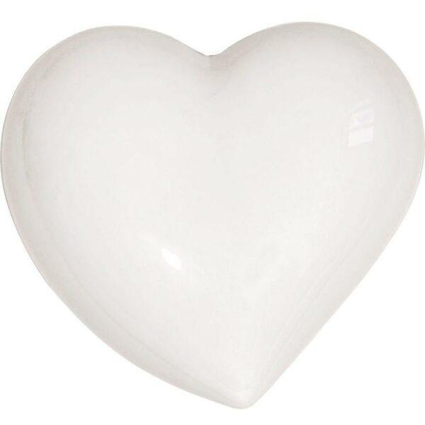 Umidificatore per termosifone in ceramica a forma di cuore di colore bianco