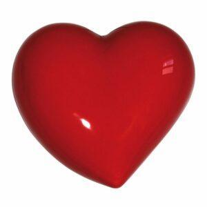 Umidificatore per termosifone in ceramica a forma di cuore di colore rosso
