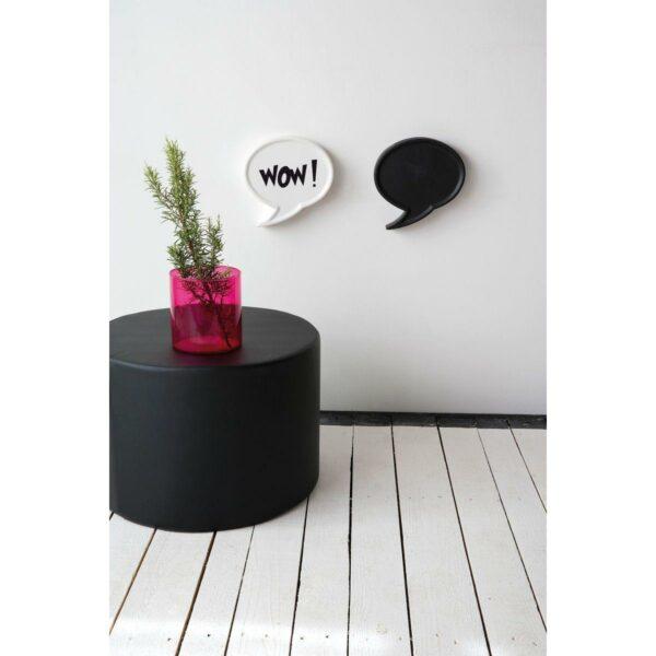 Umidificatori per termosifone in ceramica a forma di fumetto colore bianco e nero