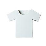 umidificatore per termosifone in ceramica bianca a forma di T - shirt