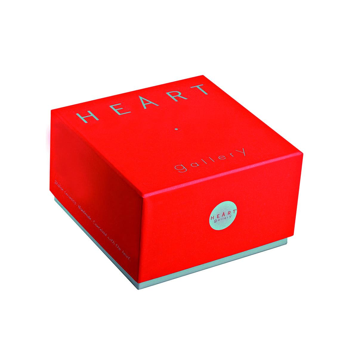 scatola regalo in carta patinata rossa heart gallery