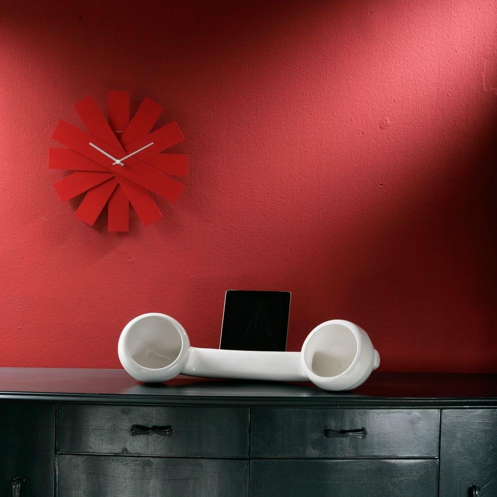 Speaker naturale in ceramica per iPhone colore bianco