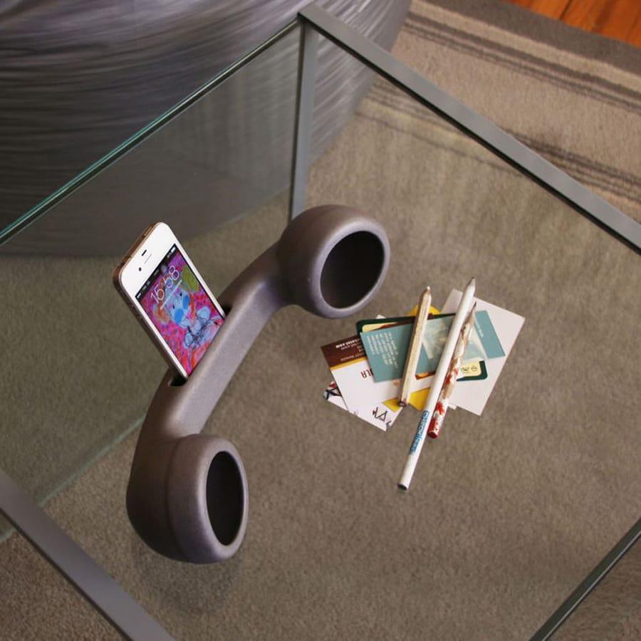 Speaker naturale in ceramica per iPhone colore grigio