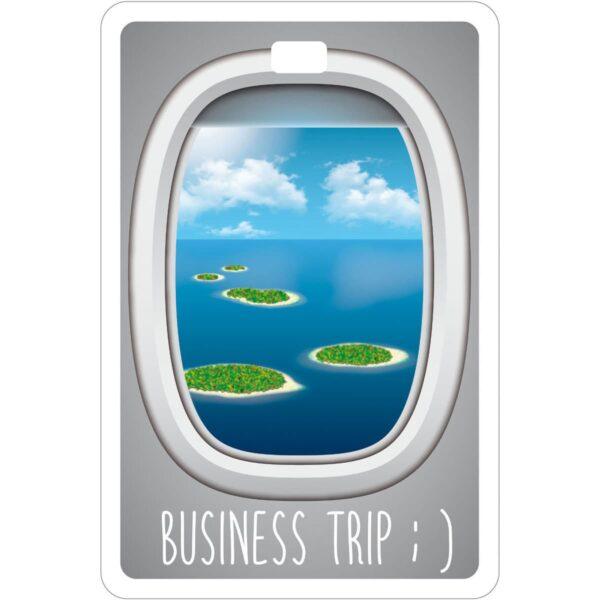 Etichetta bagaglio #MYTAG Business Trip