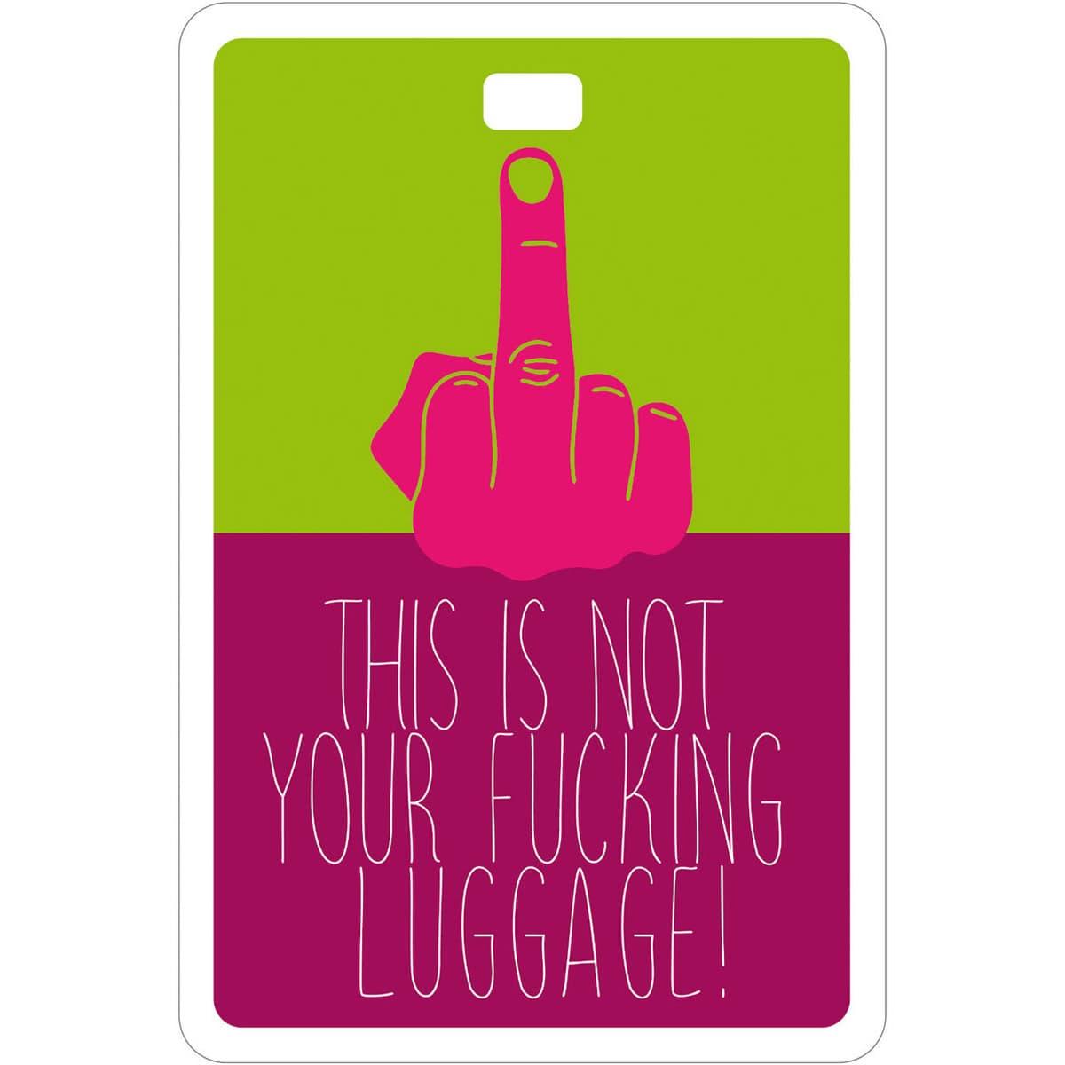 Etichetta bagaglio #MYTAG Fucking Trip con illustrazione di Manuel Stefanutti