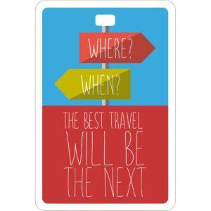 Etichetta bagaglio #MYTAG Where/When