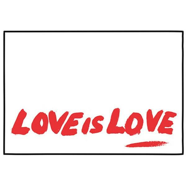 cARTolina in Tyvek leggera e impermeabile con testo rosso Love is Love
