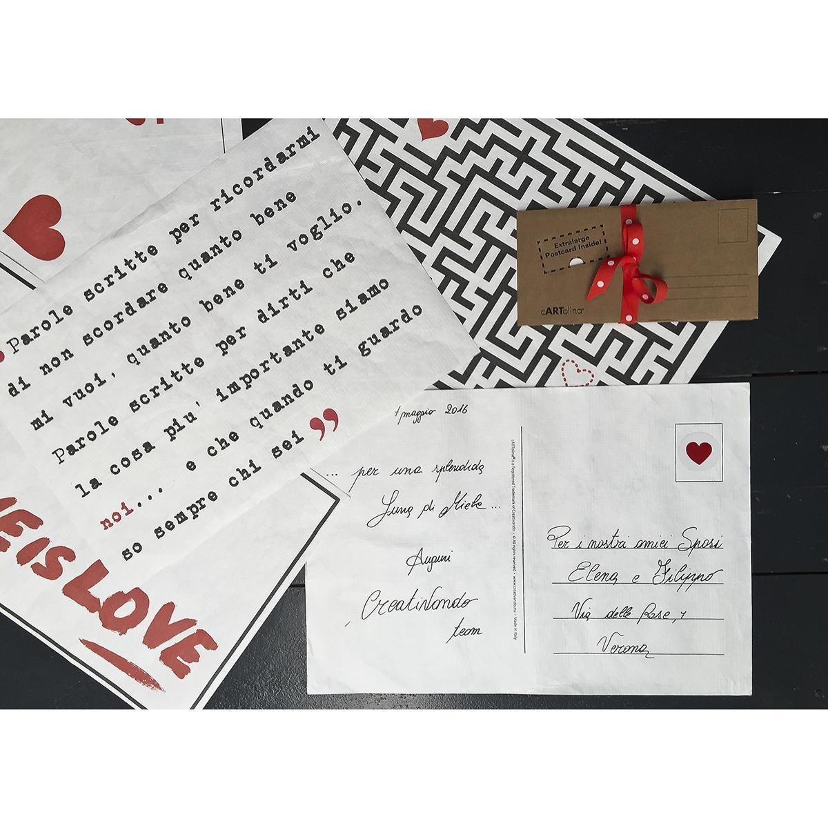 cartolina o biglietto di grandi dimensioni per fare gli auguri in maniera originale e divertente