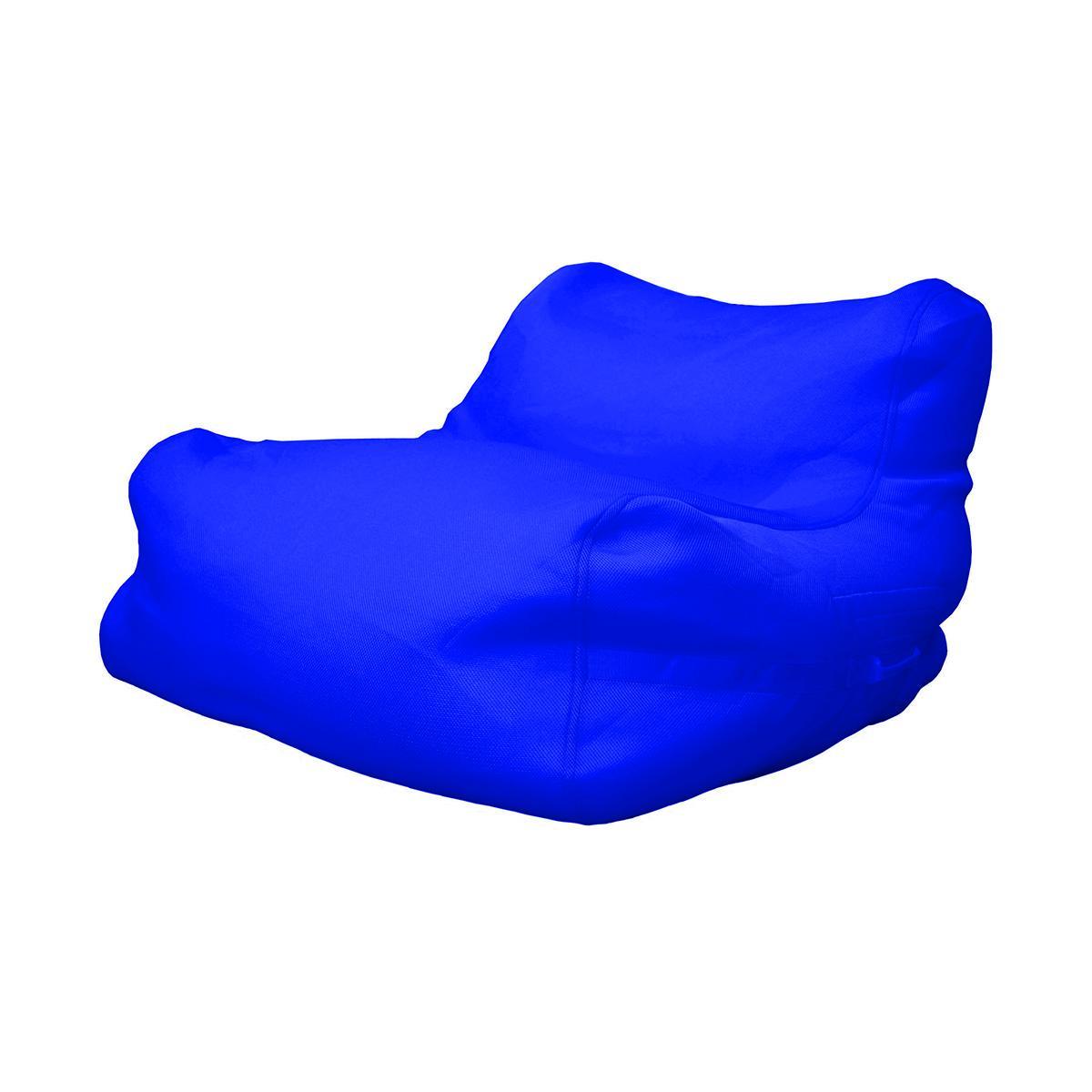 Poltrona a sacco da esterno in tessuto tecnico impermeabile colore blu